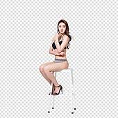 파워포인트 (이미지), PNG, 누끼, 여성, 미녀 (아름다운사람), 비키니, 수영복, 포즈 (몸의 자세)