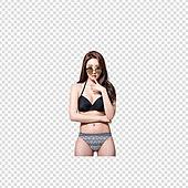 파워포인트 (이미지), PNG, 누끼, 여성, 미녀 (아름다운사람), 비키니, 수영복, 포즈 (몸의 자세), 선글라스