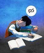 스트레스, 번아웃증후군 (격언), 방전, 스트레스 (컨셉), 번짐, 말풍선, 학생, 책, 교복