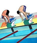 스포츠, 올림픽, 아시안게임, 국가대표선수 (선수), 선수 (역할), 수영 (움직이는활동), 수영스포츠 (수상스포츠), 다이빙 (내려가기)