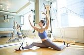 건강관리 (주제), 필라테스머신 (운동기구), 스트레칭, 운동, 다이어트, 여성