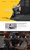 웹템플릿, 홈페이지, 메인페이지 (이미지), 레이아웃, 카피스페이스, 운동, 건강관리 (주제), 다이어트, 헬스클럽 (레저시설), 스트레칭, 한국인, 남성, 여성, 다이어트 (체형관리)