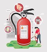 안전, 캠페인, 라이프스타일, 소화기, 점검표 (목록), 안전핀
