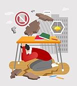 안전, 캠페인, 라이프스타일, 책상, 지진, 대피 (움직이는활동)