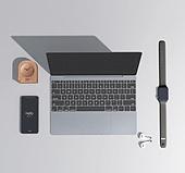 그래픽이미지 (Computer Graphics), 합성 (Computer Graphics), 비즈니스, 사무용품 (인조물건), 액세서리 (인조물건), Technophile (컨셉)