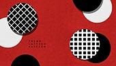 그래픽이미지, 백그라운드, 도형, 패턴, 격자무늬 (패턴), 트렌드, 빨강 (색상)