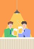 맥주, 라이프스타일, 여름, 화이트칼라 (전문직), 비즈니스맨, 회식, 건배