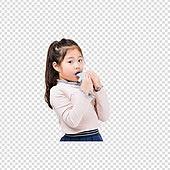 PNG, 누끼, 한국인, 어린이 (인간의나이), 초등학생, 소녀, 학생, 악기, 오카리나