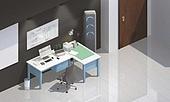그래픽이미지 (Computer Graphics), 합성, 백그라운드, 책상, 사무실, 회사건물 (건물외관), 비즈니스