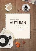 그래픽이미지, 편집디자인, 레이아웃, 가을, 이벤트페이지, 단풍 (가을), 단풍잎, 커피 (뜨거운음료), 턴테이블