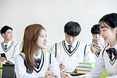 학교생활, 교복 (유니폼), 고등학생, 공부 (움직이는활동), 휴식 (정지활동), 열정 (컨셉)