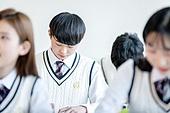 학교생활, 교복 (유니폼), 고등학생, 공부 (움직이는활동), 수업중, 열정 (컨셉)