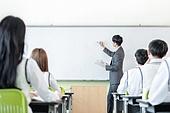 학교생활, 교복 (유니폼), 고등학생, 여학생, 교사 (교육직), 가르치는, 수업중