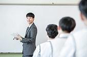 학교생활, 교복 (유니폼), 고등학생, 여학생, 교사 (교육직), 가르치는, 수업중, 미소
