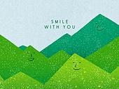 얼굴표정 (커뮤니케이션컨셉), 미소 (얼굴표정), 백그라운드, 웃음, 함께함 (컨셉), 산