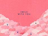 얼굴표정 (커뮤니케이션컨셉), 미소 (얼굴표정), 백그라운드, 웃음, 함께함 (컨셉)
