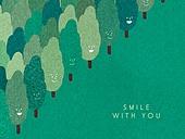 얼굴표정 (커뮤니케이션컨셉), 미소 (얼굴표정), 백그라운드, 웃음, 함께함 (컨셉), 나무