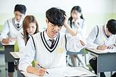고등학생, 교실, 대학수학능력시험 (시험), 스트레스