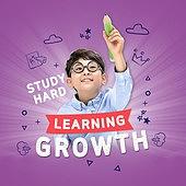 그래픽이미지 (Computer Graphics), 합성, 웹배너 (인터넷), 교육 (주제), 학교건물 (교육시설), 학원, 공부, 초등학생, 소년