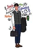 남성 (성별), 패션, 뷰티, 메트로섹슈얼 (역할), 캘리그래피 (문자), 비즈니스맨, 화이트칼라 (전문직), 서류가방