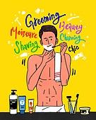 남성 (성별), 패션, 뷰티, 메트로섹슈얼 (역할), 캘리그래피 (문자), 욕실, 면도, 면도기, 수건