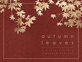 파워포인트, 메인페이지, 가을, 자연, 잎, 낙엽, 색연필