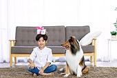 어린이 (인간의나이), 애완동물 (길든동물), 애완견, 선물상자 (상자), 미소