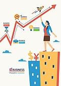비즈니스, 화이트칼라 (전문직), 비즈니스우먼, 화살표, 건물외관 (건설물), 고층빌딩 (회사건물), 금융