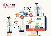 비즈니스, 화이트칼라 (전문직), 비즈니스맨, 비즈니스우먼, 컴퓨터, 과학자 (전문직), 돋보기, 금융