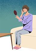 폐경기 (컨셉), 우울, 우울 (슬픔), 노인 (성인), 여성, 엄마, 호르몬, 소파, 슬픔