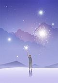 환상 (컨셉), 동화, 백그라운드, 사람, 상상력 (컨셉), 밤 (시간대), 별 (우주), 구름, 불꽃놀이