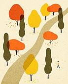 백그라운드 (주제), 가을, 계절, 자연 (주제), 자연풍경 (풍경), 길, 나무, 초원 (자연의토지상태)