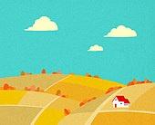 백그라운드 (주제), 가을, 계절, 자연 (주제), 자연풍경 (풍경), 언덕, 초원 (자연의토지상태), 단풍 (가을), 구름