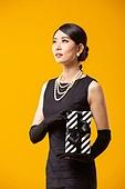 레트로스타일 (컨셉), 드레스 (의복), 쇼핑 (상업활동), 패션, 선물 (인조물건), 선물상자 (상자), 미소