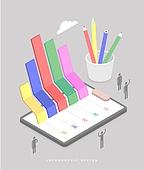 인포그래픽, 그래프, 픽토그램, 비즈니스, 보고서, 연필, 교육 (주제)