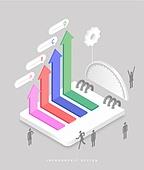 인포그래픽, 그래프, 픽토그램, 비즈니스, 말풍선, 화살표, 각도기, 교육 (주제)
