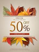 상업이벤트 (사건), 세일 (사건), 가을, 단풍잎 (잎), 잎, 낙엽