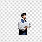 그래픽이미지, 파워포인트 (이미지), PNG, 누끼, 한국명절 (한국문화), 한복, 한국인, 남성, 부채 (액세서리)