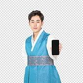 그래픽이미지, 파워포인트 (이미지), PNG, 누끼, 한국명절 (한국문화), 한복, 한국인, 남성, 스마트폰