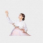 그래픽이미지, 파워포인트 (이미지), PNG, 누끼, 한국명절 (한국문화), 한복, 한국인, 여성, 목화