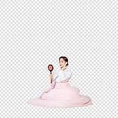 그래픽이미지, 파워포인트 (이미지), PNG, 누끼, 한국명절 (한국문화), 한복, 한국인, 여성, 거울