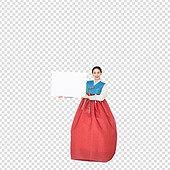 그래픽이미지, 파워포인트 (이미지), PNG, 누끼, 한국명절 (한국문화), 한복, 한국인, 여성, 안내 (컨셉)