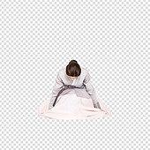 그래픽이미지, 파워포인트 (이미지), PNG, 누끼, 한국명절 (한국문화), 한복, 한국인, 여성, 큰절