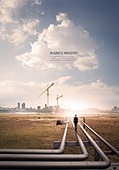백그라운드, 풍경 (컨셉), 비즈니스, 화물운송 (운수), 건설업 (산업), 광고, 발전 (컨셉)