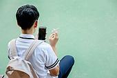고등학생, 십대 (인간의나이), 반항청소년 (역할), 흡연 (주제), 스마트폰