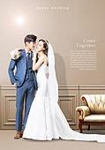 그래픽이미지 (Computer Graphics), 레이아웃, 포스터, 잡지, 상업이벤트 (사건), 결혼 (사건), 웨딩드레스, 신랑, 신부 (결혼식역할), 부부, 남성, 여성