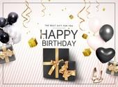 그래픽이미지 (Computer Graphics), 편집디자인, 이벤트페이지, 상업이벤트 (사건), 축하이벤트 (사건), 생일, 파티, 폭죽, 선물 (인조물건), 선물상자 (상자)