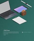 그래픽이미지 (Computer Graphics), 합성 (Computer Graphics), 비즈니스, 오브젝트 (묘사), 노트북컴퓨터 (개인용컴퓨터), 그래픽태블릿 (컴퓨터장비), 디지털태블릿 (개인용컴퓨터), 시계, 스마트워치