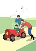 가족, 행복, 함께함 (컨셉), 부모, 자식 (가족), 즐거움, 음표, 공원