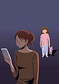 아동학대, 어두움, 슬픔, 우울, 어린이 (인간의나이), 무관심, 소녀 (여성), 부모